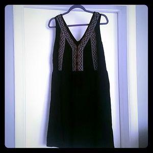 Tribal embroidered black dress